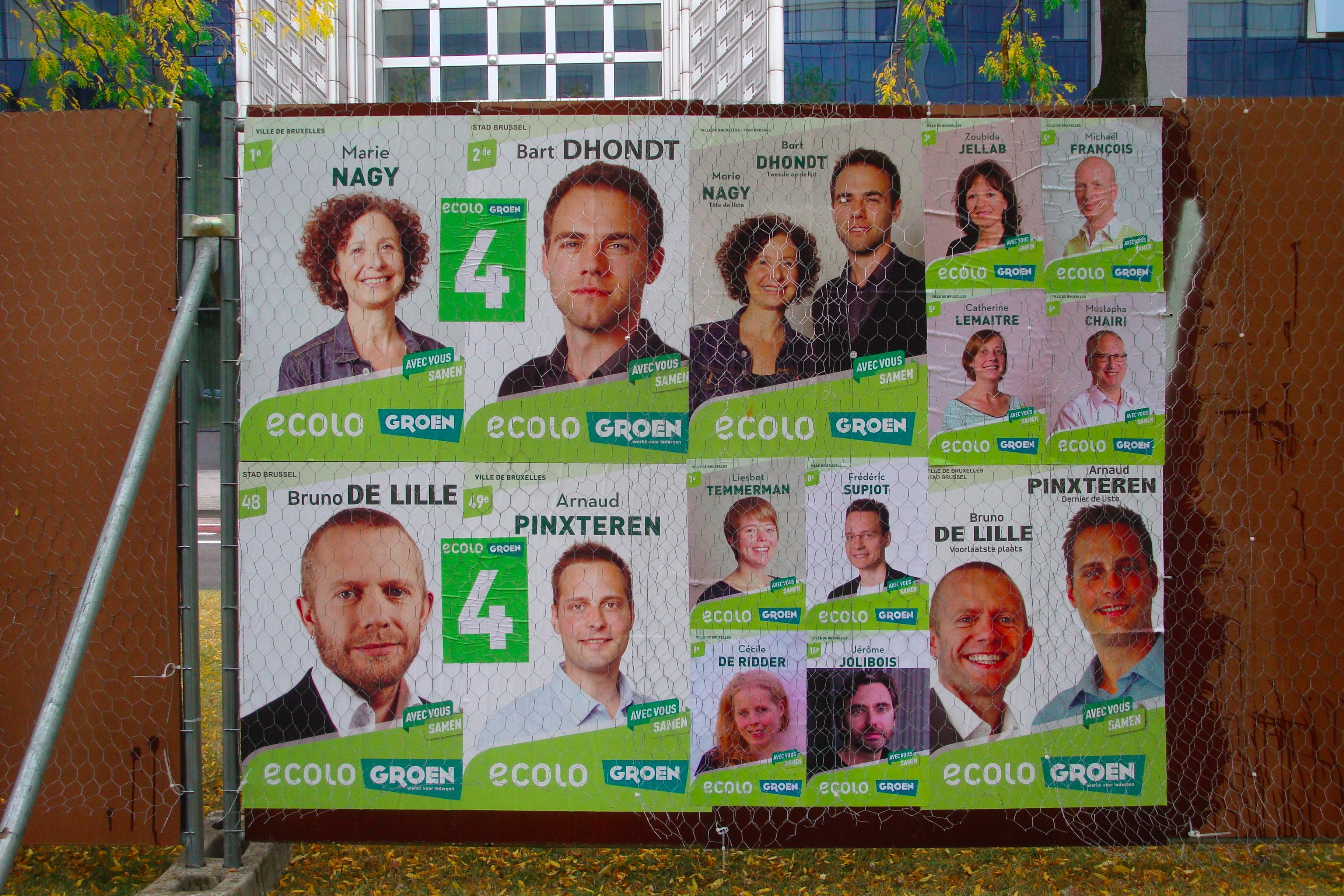 Verkiezingsborden Groen-Ecolo BXL-stad okt. 2012 – Foto H.Sleebus DSC07584